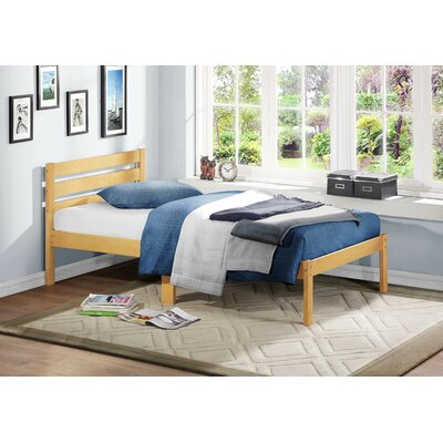 Bart Panel Bed Color: Light Oak