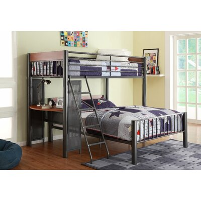 Division Twin over Full L-Shaped Bunk Bed