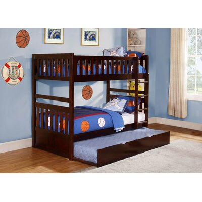 Woodbridge Home Designs Rowe Twin Over Twin Standard Bunk Bed with Trundle