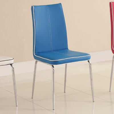 Goran Side Chair (Set of 2) Side Chair Upholstery: Blue