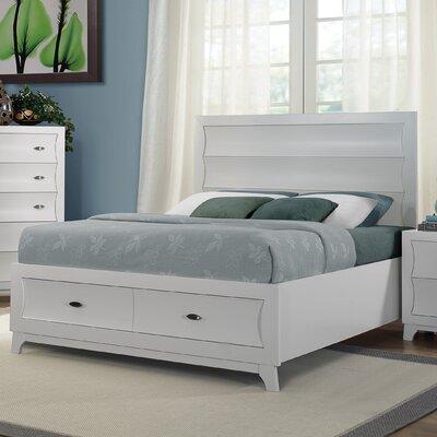 Zandra Panel Bed Size: Queen, Finish: White