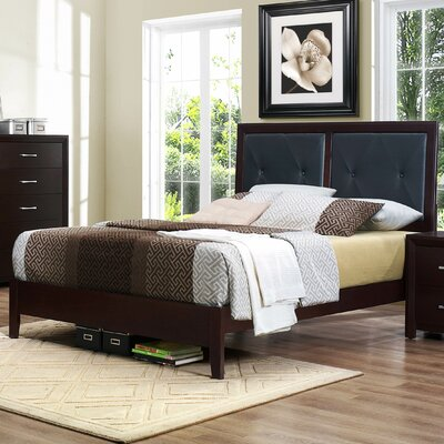 Edina Upholstered Panel Bed Size: Queen
