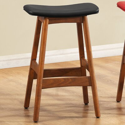 24 Bar Stool (Set of 2) Upholstery: Black