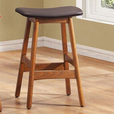 24 Bar Stool (Set of 2) Upholstery: Dark Brown