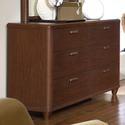 Beaumont 6 Drawer Double Dresser with Mirror