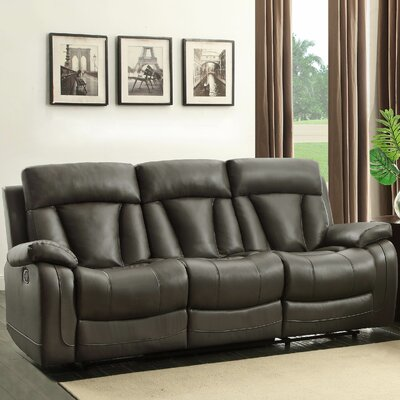 Ackerman Double Reclining Sofa Upholstery: Grey