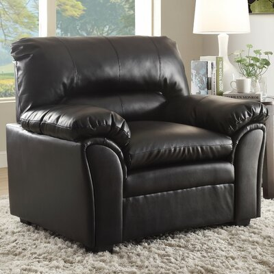 Talon Club Chair Upholstery: Black