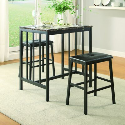 Edgar 3 Piece Counter Height Pub Table Set