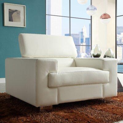 Vernon Armchair Upholstery: White