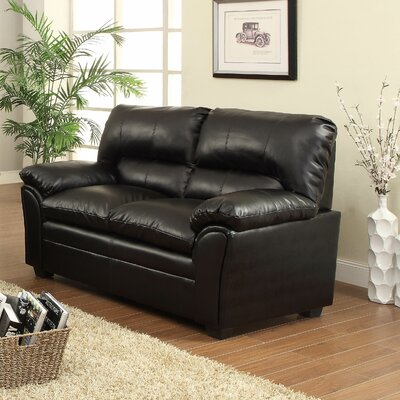Talon Loveseat Upholstery: Black