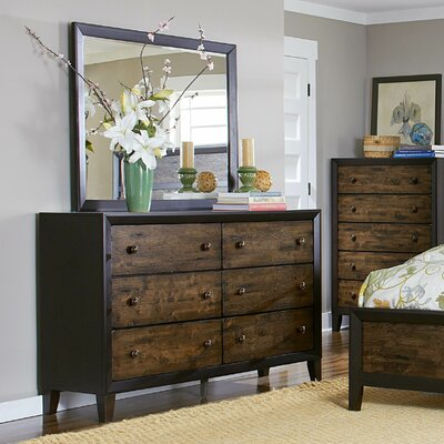 Woodhaven Hill Arcola 6 Drawer Dresser with Mirror