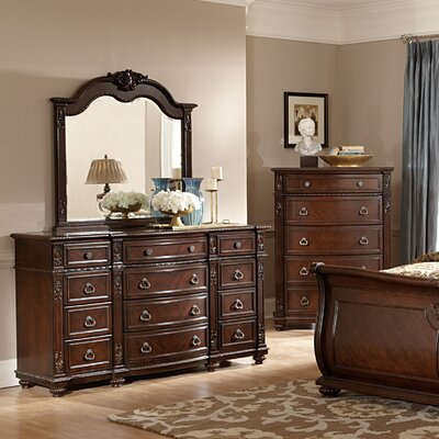 Hillcrest Manor 12 Drawer Dresser with Mirror