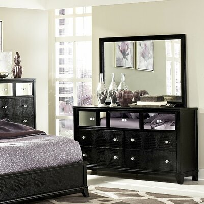 Jacqueline 7 Drawer Dresser with Mirror