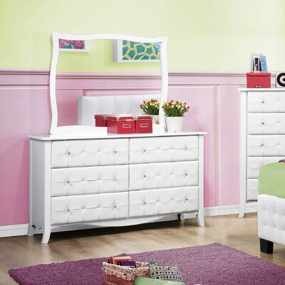 Woodhaven Hill Sparkle 6 Drawer Dresser (2 Pieces)