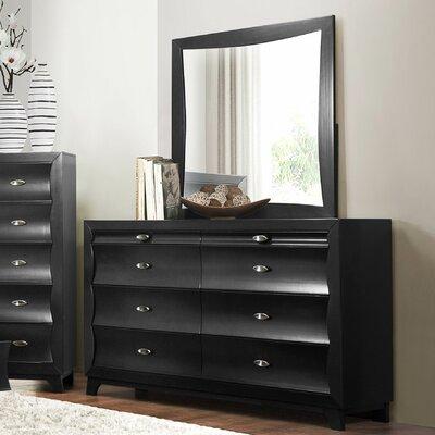 Zandra 6 Drawer Dresser with Mirror
