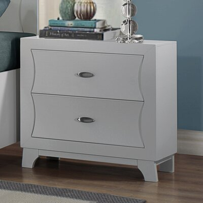 Bishopville 2 Drawer Nightstand Finish: White