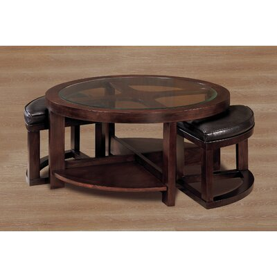 3219 Series Coffee Table with 2 Ottomans