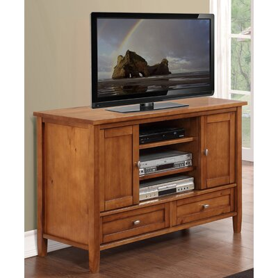 Woodbridge Home Designs Warm Shaker TV Stand - Finish: Brown
