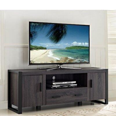 Woodbridge Home Designs Gilbert TV Stand - Finish: Weatherd Charcoal Grey