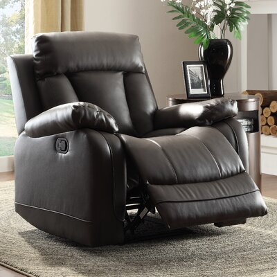 Ackerman Manual Recliner Upholstery: Black