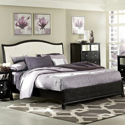 Jacqueline Upholstered Panel Bed Size: Queen