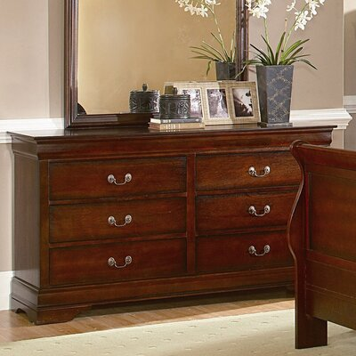 Chateau 6 Drawer Double Dresser