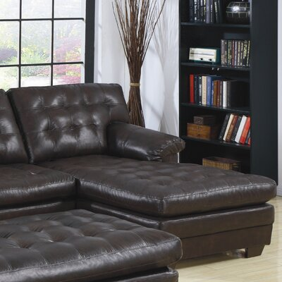 Brooks Bonded Right Leather Chaise Lounge