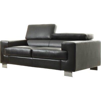Vernon Loveseat Upholstery: Black