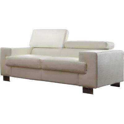 Vernon Loveseat Upholstery: White