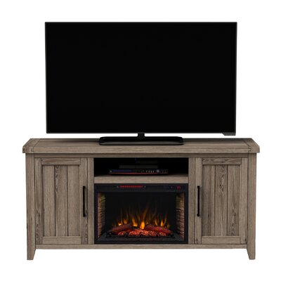 66 TV Stand with Fireplace