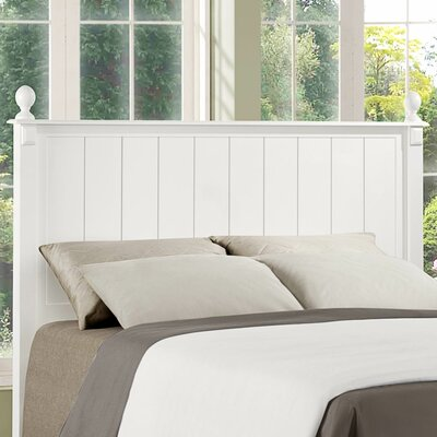 Pottery Panel Headboard Size: Twin, Color: White