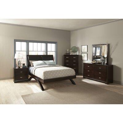 1313 Series Upholstered Platform Bed Size: King
