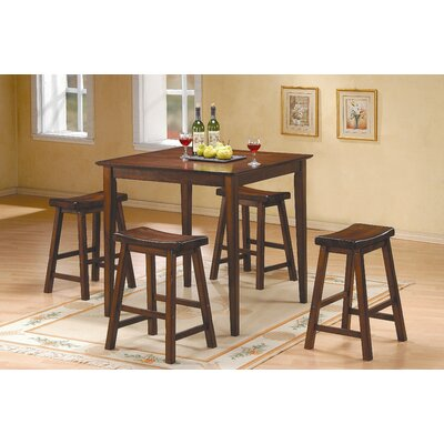 5 Piece Counter Height Pub Set Finish: Cherry