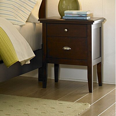 1475 Series Nightstand in Distressed Brown Cherry