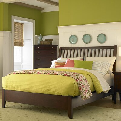 1475 Series Bed in Distressed Brown Cherry