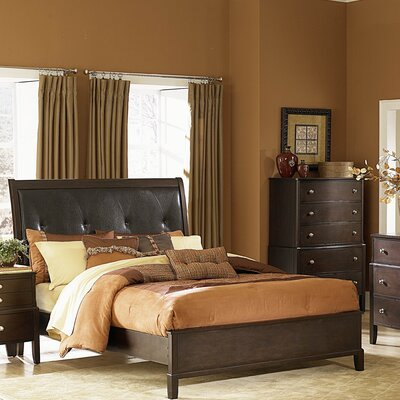 1471 Series Bed in Distressed Warm Espresso