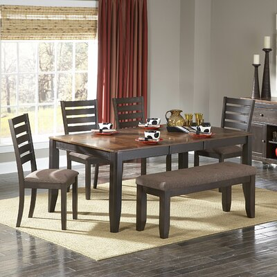 woodbridge home designs 5448 series 7 piece dining set in distressed