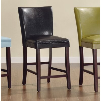 Belvedere 24 Bar Stool (Set of 2) Upholstery: Dark Brown