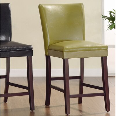 Belvedere 24 Bar Stool (Set of 2) Upholstery: Chartreuse Yellow
