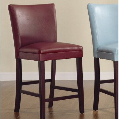 Belvedere 24 Bar Stool (Set of 2) Upholstery: Lava Red