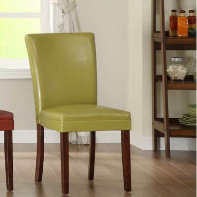 Belvedere Parsons Chair (Set of 2) Finish: Chartreuse Yellow
