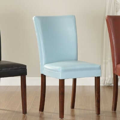 Belvedere Parsons Chair (Set of 2) Finish: Sky Blue