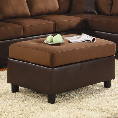 Comfort Rhino Cocktail Ottoman Upholstery: Chocolate