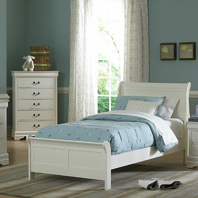 Woodbridge Home Designs Marianne Panel Bed - Size: California King, Finish: White at Sears.com