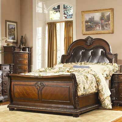 Easy furniture financing Palace Sleigh Bed Size: King...