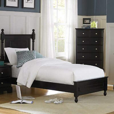 Woodbridge Home Designs Morelle Panel Bed - Size: California King, Finish: Black at Sears.com