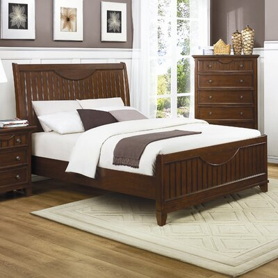 Woodbridge Home Designs Alyssa Panel Bed - Finish: Warm Cherry, Size: California King at Sears.com