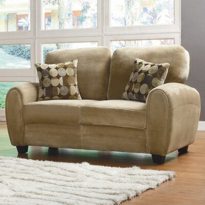 Rubin Loveseat Upholstery: Light Brown