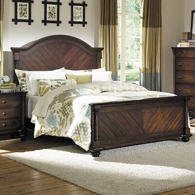 Lease to own Chaplin Panel Bed Size: King...
