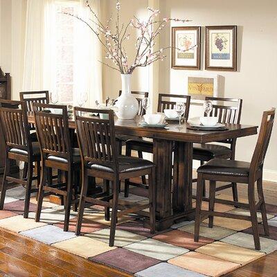 Woodbridge Home Designs Everett Counter Height Dining Table (9 Pieces) - Finish: Distressed Medium Oak
